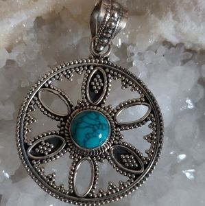 Jewelry - Turquoise Sterling Silver Pendant